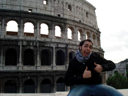 Dominic Romero '10 studies in Rome