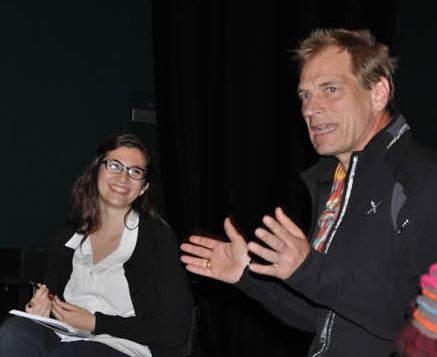 Actor Julian Sands talks about the craft of acting and writing with students