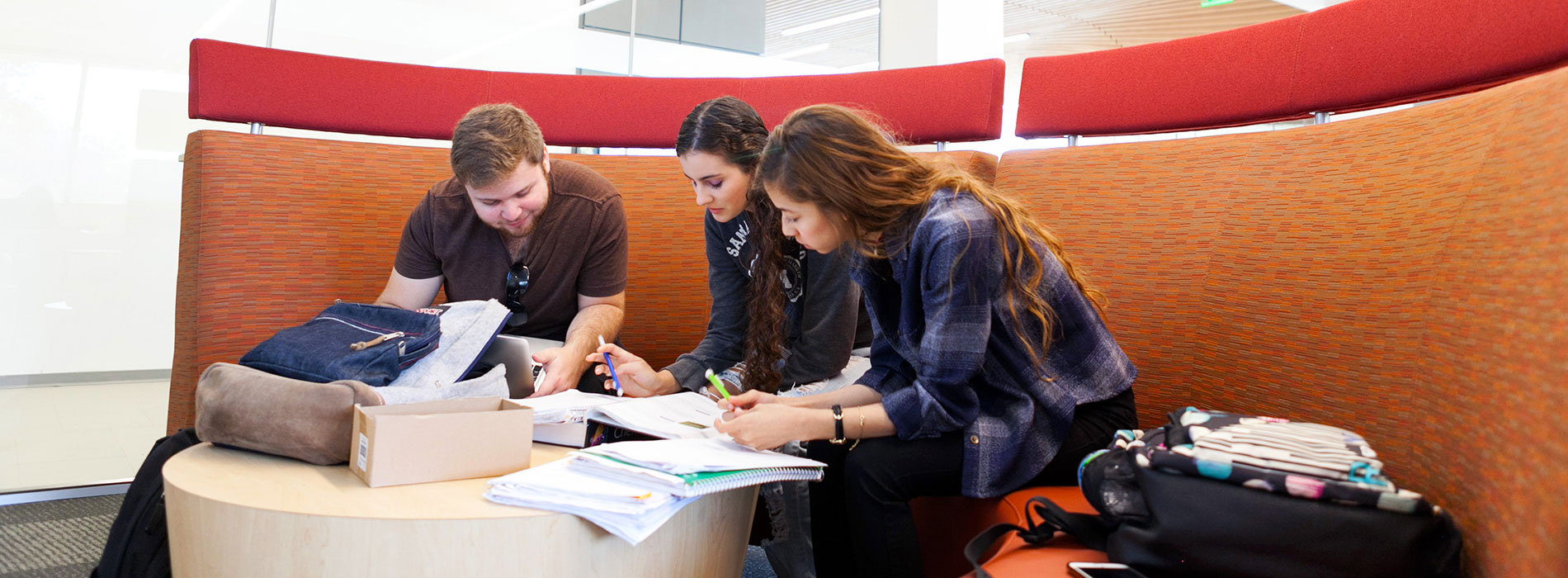 Students study in the Science and Learning Center