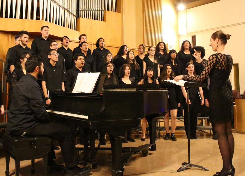Choral Director and singers