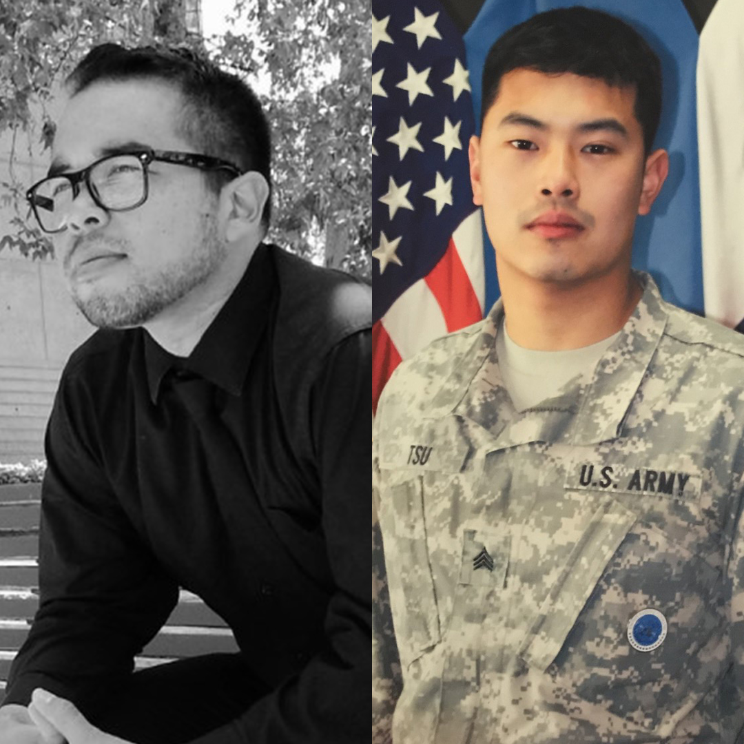 Student veterans Joshua Elsen '20 and Patrick Tsu '20