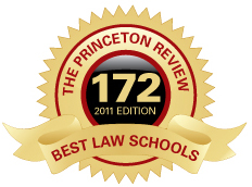 Whittier College Law school featured in the Princeton's reviews Best Law Schools guidebook.