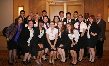 Whittier business students win championship at regional competition