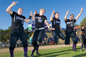 Whittier College softball team