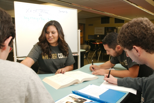 Students receiving tutoring