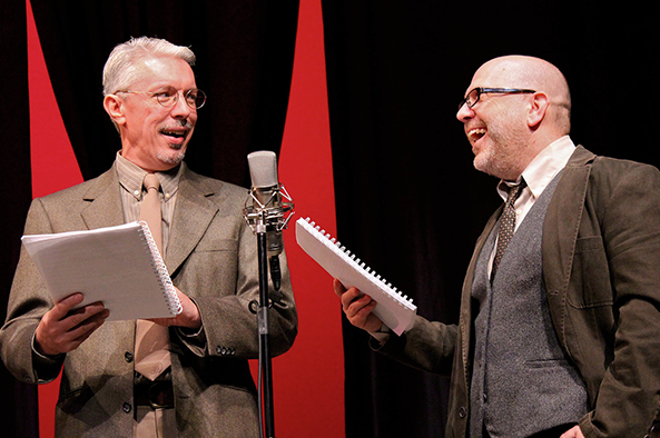 "Seamus Lagan and David Paddy perform in ""It's a Wonderful Life, a Live Radio Play"""