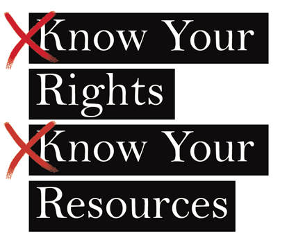 Know Your Rights, Know Your Resources