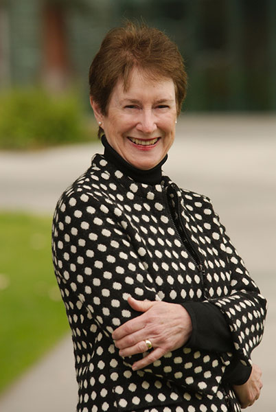 Whittier College President Sharon Herzberger