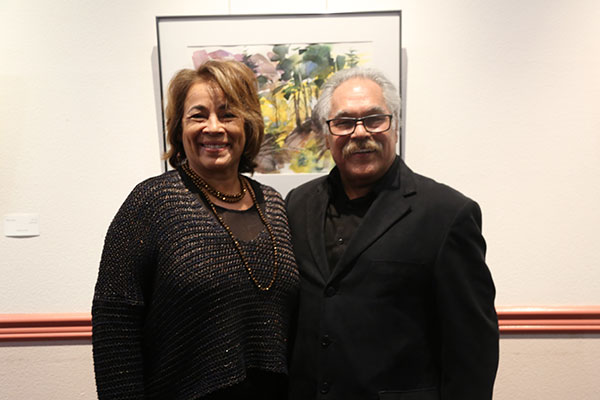 Alma Martinez and Luis Valdez at the Ruth B. Shannon Center for the Performing Arts