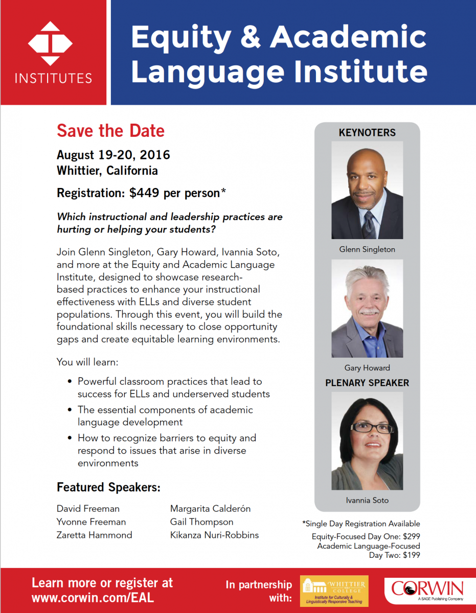 Equity and Academic Language Institute