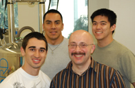 Chemistry Professor Isovitsch with his team of student researchers.