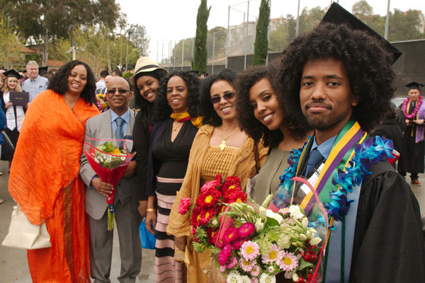 Family at Whittier College Graduation