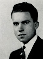 Richard Nixon yearbook picture