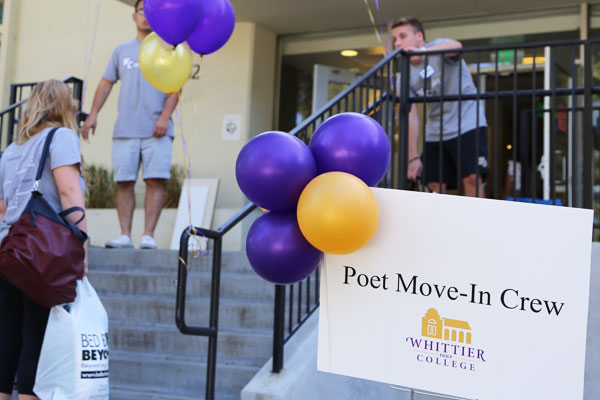 Students help family move into dorm