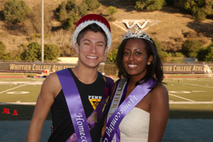 Whittier College Homecoming King and Queen.
