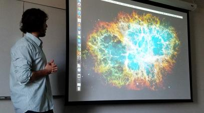 Student presents study of supernovae