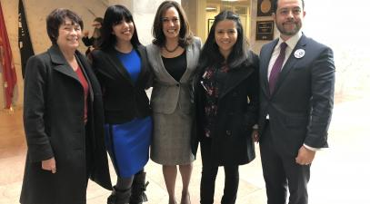 Group with Senator Harris