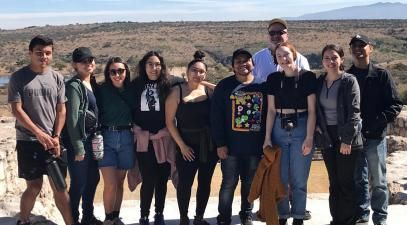 A group of students and professor Tony Barnstone in Mexico.