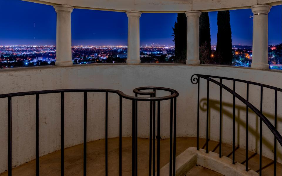 View of Los Angeles from atop the mansion's turret