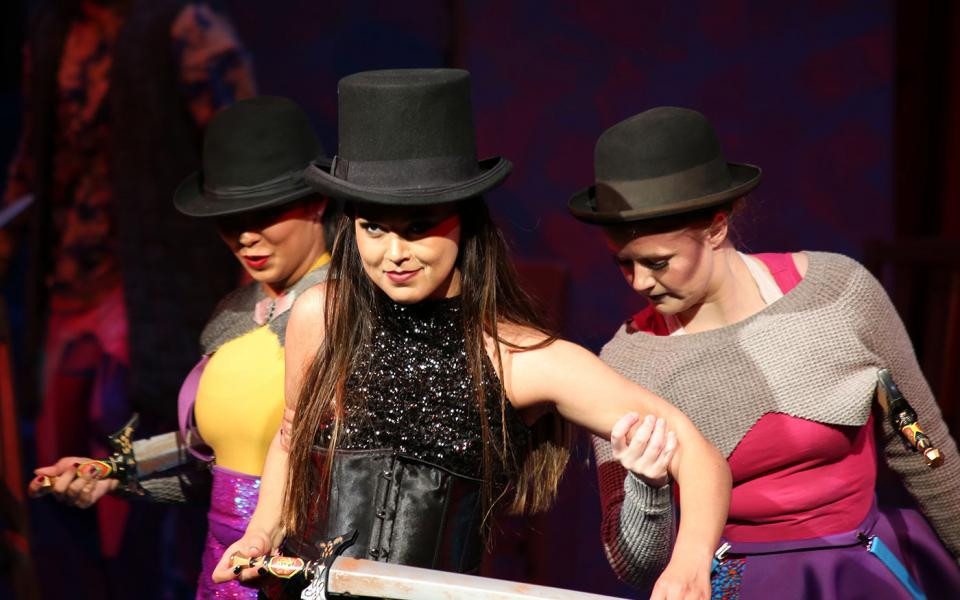 Students perfom in 'Pippin'