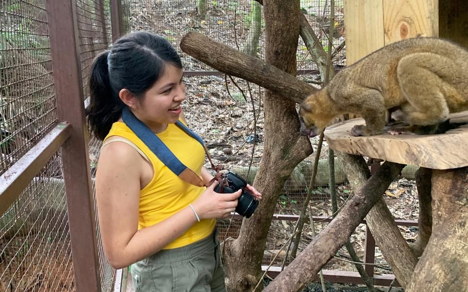 Brianne Estrada and an animal