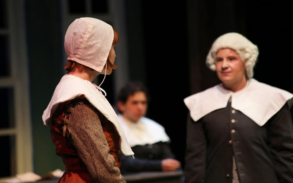 Students perform in The Crucible