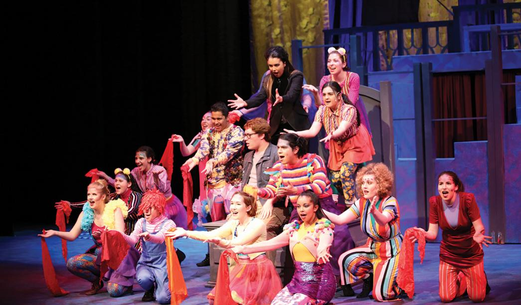The student cast of 'Pippin'